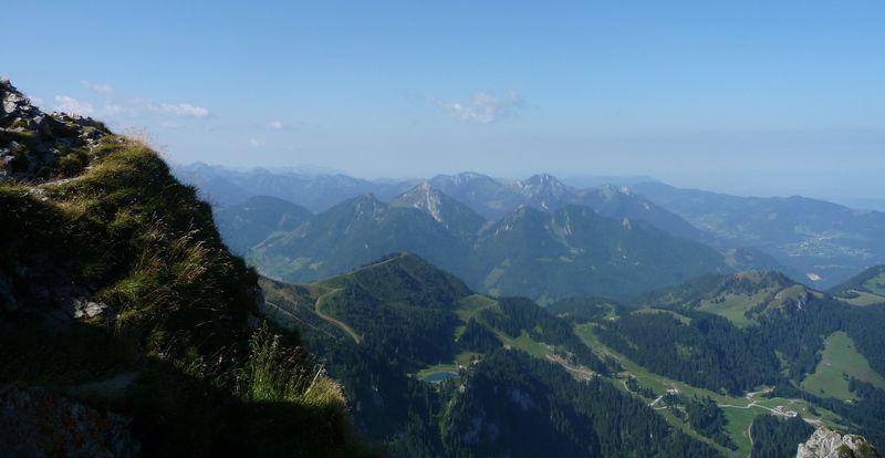 Panorama depuis le sommet de le dent doche